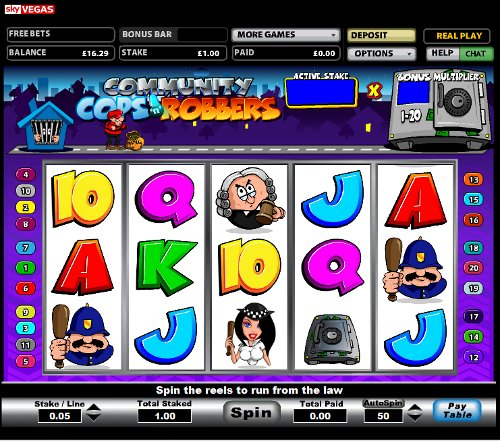 no deposit online casino cops and robbers slots